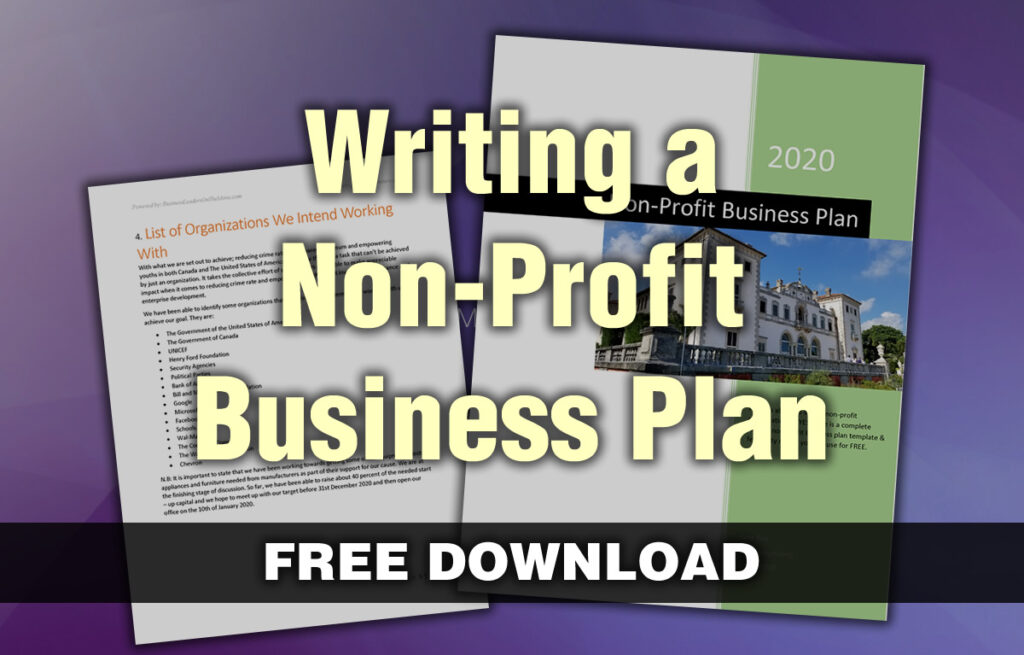 how to write a business plan for your nonprofit  z